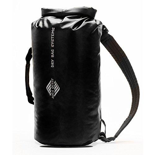 Aqua Quest Mariner 30 - 100% Wasserdichter Rucksack Trockentasche - 30 L, Langlebig, Bequem, Leicht, Vielseitig - Schwarz