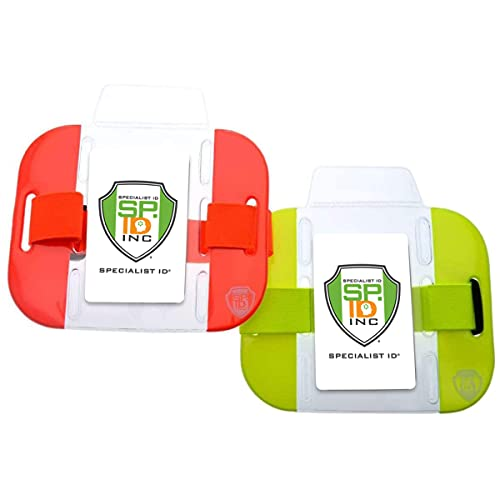 High Visibility Bright Neon Armband Ski Pass Holders