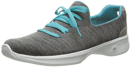 Skechers Go Walk 4-A.D.C, Zapatillas para Mujer, Gris (Gybl), 41 EU