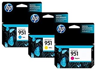 Kit 3 cartuchos Coloridos HP 951 Originais Ciano Magenta Amarelo para HP Officejet PRO 8100 8600 8610