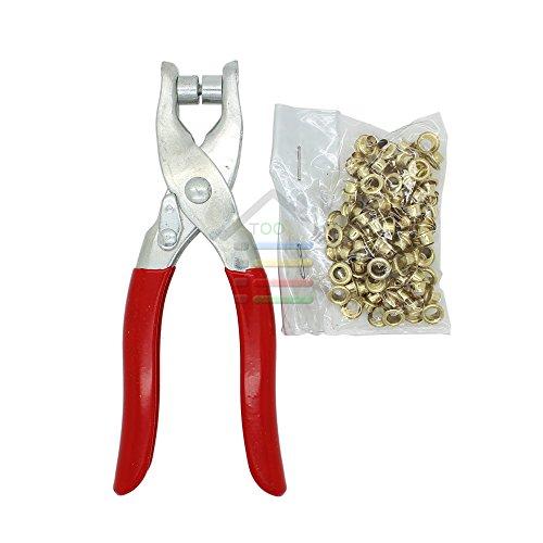 Nieuwe DIY Grommet Eyelet Pliers Schoenen Ogen Klem Met ongeveer 100 Ogen Voor Stof,Papier, Tassen