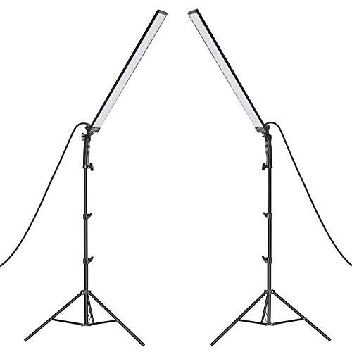 Neewer Kit d'Illuminazione Luce LED da Studio 2pz Bastone Luce LED Portatile 5500K con Luminosità...