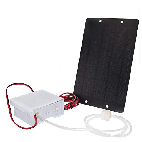 Alician Mute Bomba de oxígeno de agua con energía solar, aireador de estanque, aireador de agua, oxigenador de flujo de aire, suministros para el hogar