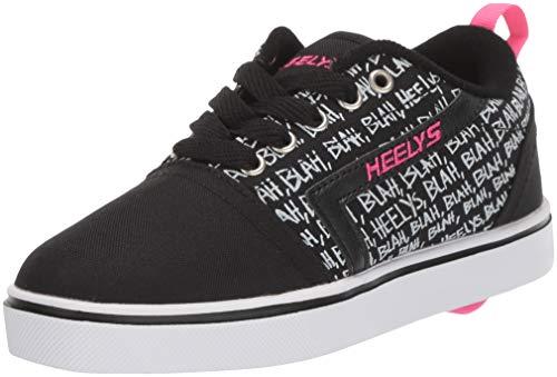 Heelys Damen GR8 Pro Prints (he100641) Sneaker, Schwarz (Black/Hot Pink/Blah Black/Hot Pink/Blah), 36.5 EU