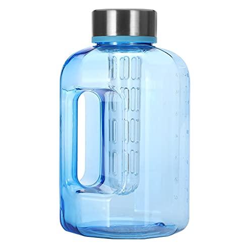 Lshbwsoif Botella de agua deportiva de 2,2 l/84 oz libre de BPA de gran capacidad para deportes botella de agua potable gimnasio entrenamiento Cap Kettle para objetivos de fitness y al aire libre