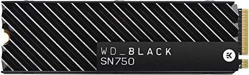 WD Black SN750 NVMe - Disque SSD interne haute-performance pour ordinateurs de jeu, 1 To, avec dissipateur