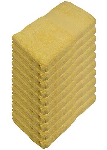 Juego de Toallas de bidet 15 Colores Suave Absorbente 500 g/m² 100% algodón Certificado Öko Tex algodón Blanco 30 x 50 cm