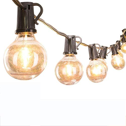 CZYNB LED al Aire Libre Luces de Cadena, llevada Solar Ligera de la Secuencia G40, luz de tungsteno Resistente al Agua Bulbo jardín de la Navidad Decoración E12