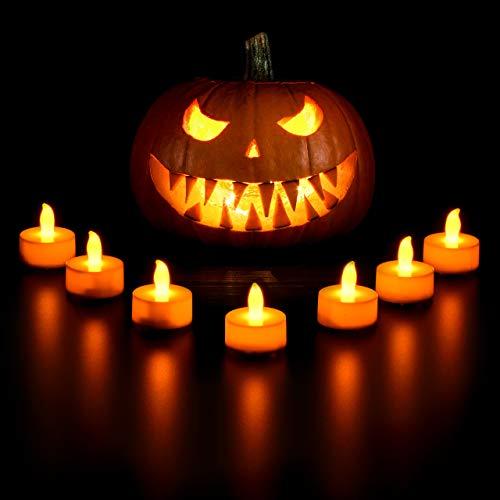 VicTsing 24 Velas de LED Decorativas con Efecto Llama, Pilas Incorporadas de 100 Horas para Hogar, Jardín, Baño, Boda, Fiesta y Cumpleaños