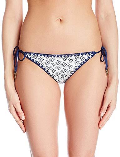 Dolce Vita Women's Cloud Nine Reversible Edging Detail Tie Bikini Bottom, Dusk, S