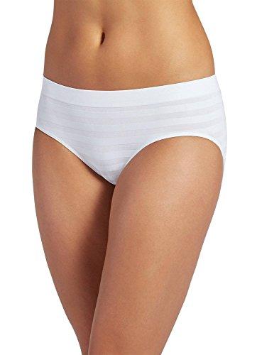 Jockey Women's Underwear Matte & Shine Seamfree Hipster, White, 6
