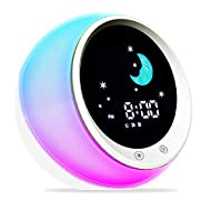 【SLEEP TRAINING CLOCK】 Younger children can not fully understand the concept of time,we design this clock to teach your children when its fine to go sleep and wake up! it comes with all the features necessary to help your kids sleep better and wake-u...