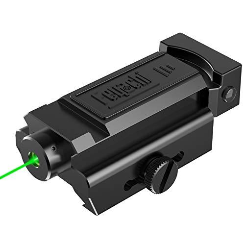 Feyachi PL-34 Green Laser Sight Low-Profile Compact Picatinny Rail Laser for Pistol Handgun Shotgun Rifle