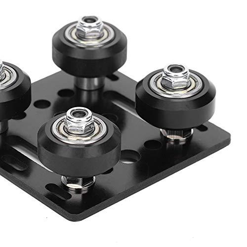 Surebuy V Slot Gantry Plate, Good Performance Aluminum Profiles Portable V Slot Gantry Plate for 3D Printer Compact for 3D Printer