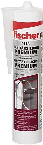 fischer DSSA AN - Premium Sanitärsilicon für Eck-, Bewegungs- und Anschlussfugen im Sanitär- und Küchenbereich, dauerelastisch, anthrazit, 310 ml - 1 Stück - Art.-Nr. 512211
