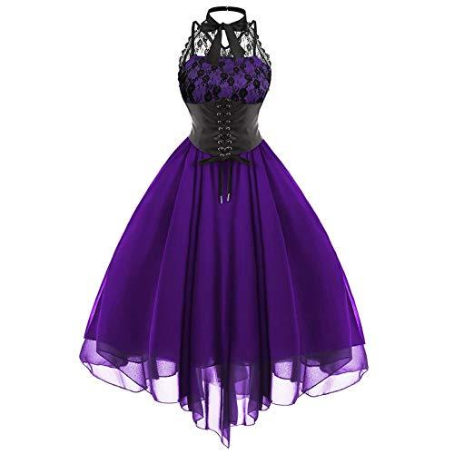 FOTBIMK Vestidos de mujer Moda Fresco Fiesta Encaje Cintura Alta Princesa Mini Vestidos Casual Bordado Vendaje Elegante Vestido de Fiesta Cóctel