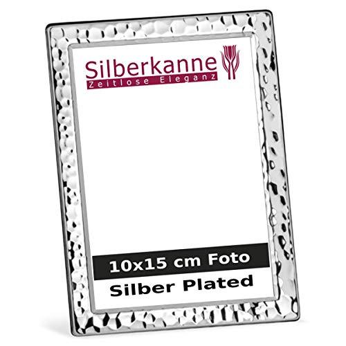 silberkanne Cornice portafoto Argentata a Forma di Martello per Foto da 10 x 15 cm, placcata in Argento