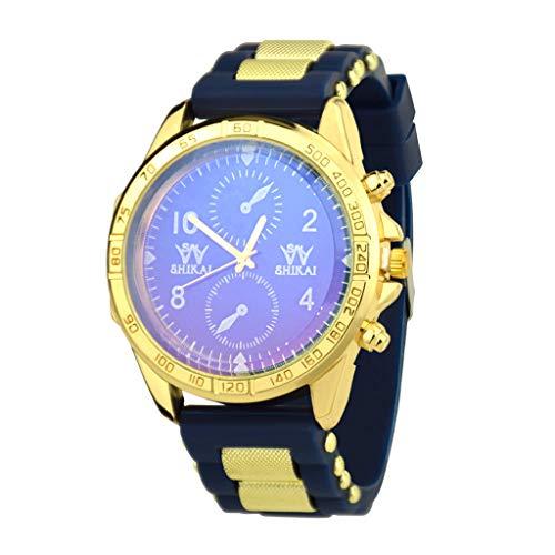 Transer Uomini e Donne Comfort Trend Personalità Guarda Cinturino in Silicone al Quarzo Fashion Casual Watch, per SHIKAI ZYBSK-13 (Blue)