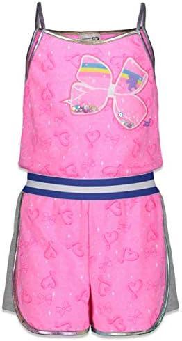 JoJo Siwa Big Girls Romper Shoulder Strap Sleeveless Shorts Jumpsuit Pink 14 16 product image