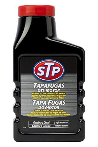 STP ST63300SP Tapafugas Motores Coche Gasolina Y Diesel 300 ml Ayuda a parar pequeñas Fugas de Aceite, 300ml