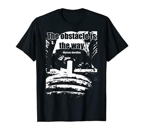The Obstacle is the Way, Dumbbell - Maglietta motivazionale da palestra Maglietta