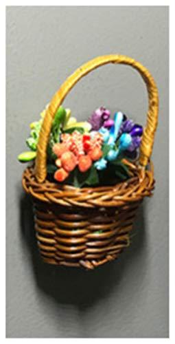 Changskj Pegatinas de Pared 1 PC Magnético Refrigerador Decoración Resina Flor Cesta Estilo Frigorífico Imauvenir DIY Familia Jardín Decoración (Color : 4)