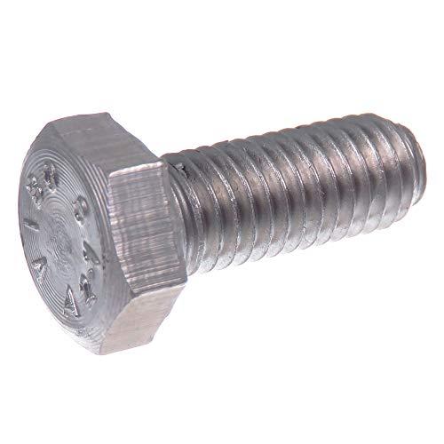 SECCARO Sechskantschraube M8 x 20 mm, Edelstahl V2A VA A2, DIN 933 / ISO 4017, Außensechskant, 20 Stück