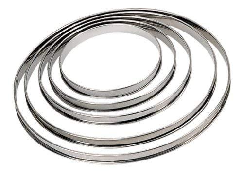 DE BUYER -3091.16N -cercle a tarte inox ht 2cmbd roule ø16