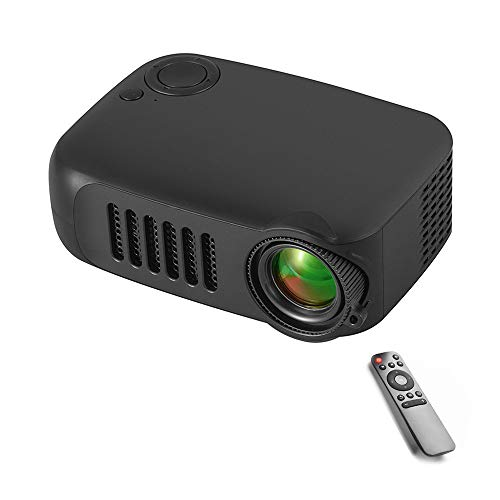 Jiadi Mini Projector, Portable LED Projector with Tripod, Compatible with USB/SD/AV/HDMI Input for Movie/Game/Home Theater Video Projector, Best Gift for Kid