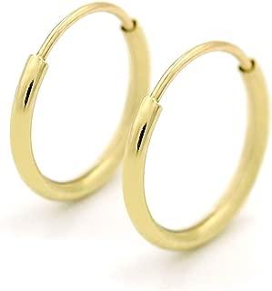 24k gold cartilage hoop