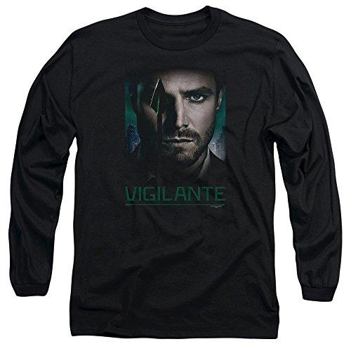 Green Arrow - Bon longue yeux des hommes manches T-shirt, X-Large, Black