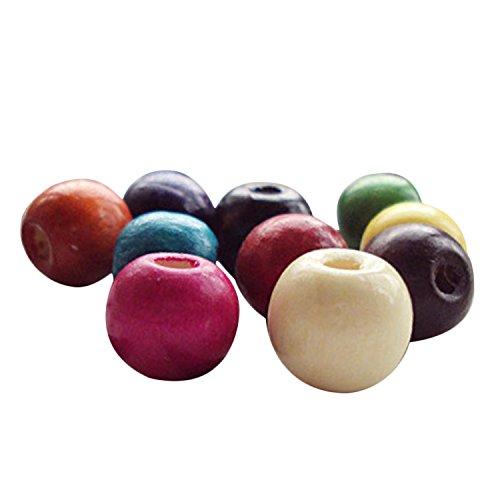 100pcs varios colores colorido Natural cuentas de madera DIY para hacer pulsera collar joyería pelo macramé Craft proyecto 12mm