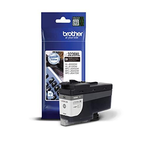 Brother Original Tintenpatrone LC-3239XLBK Schwarz (für Brother HL-J6000DW, HL-J6100DW, MFC-J5945DW, MFC-J6945DW, MFC-J6947DW) ca. 6000 Seiten nach ISO Standard 24711