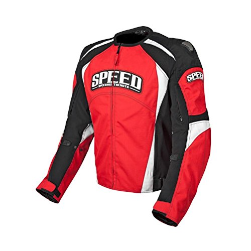 Speed and Strength Twist of Fate 3.0 Men's Motorcycle Textile Jacket (White/Hi-Viz)