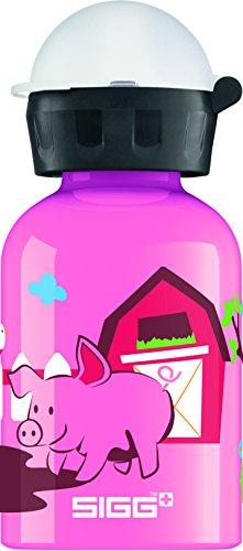 SIGG Sunny Day on the Farm Kinder Trinkflasche (0.3l), schadstofffreie Kinderflasche mit auslaufsicherem Deckel, schöne Wasserflasche aus Aluminium