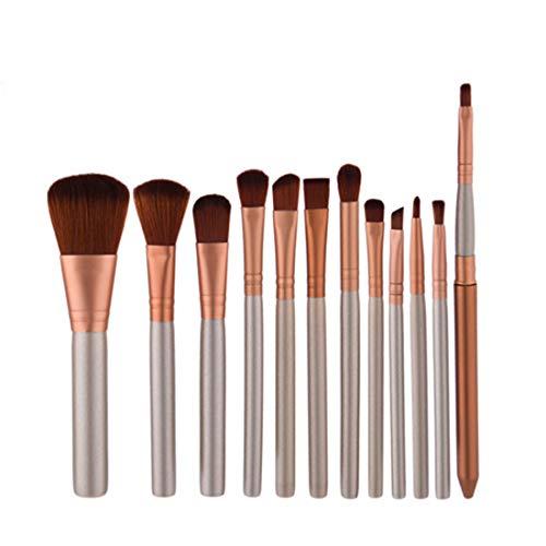BERYLSHOP Ensemble de pinceaux Outils Trousse de toilette de maquillage Nylon Cosmetic Brush Eye Brush 12 In 1 (Couleur : 12-piece)