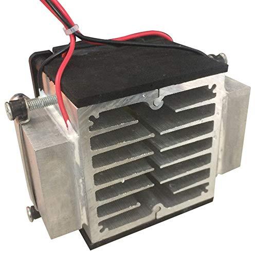 Jullyelegant Placa de refrigeración de semiconductores Módulo de disipación de Calor del acondicionador de Aire pequeño Refrigerador portátil de 12 voltios Kit electrónico de producción - Negro