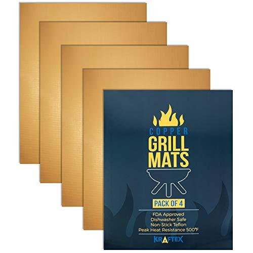 Placas de cobre para parrilla Kraftex (Paquete GRANDE de 4 unids). Placas...