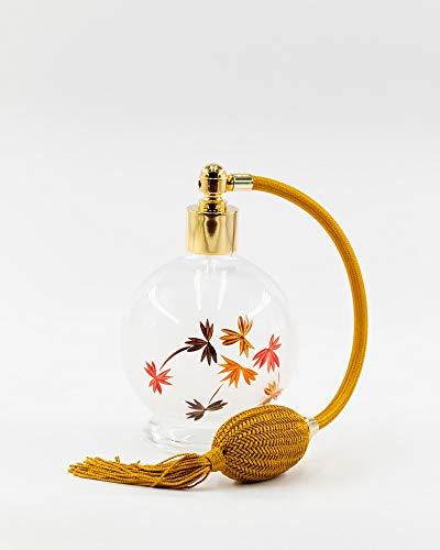Martinoli Pulvérisateur pour parfum en cristal de Bohemia avec broderie florale, blanc mat – 400 g