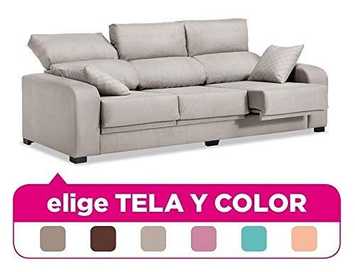 Muebles Baratos Sofá Tres Plazas, Subida A Domicilio, Elige Tela y Color ref-42