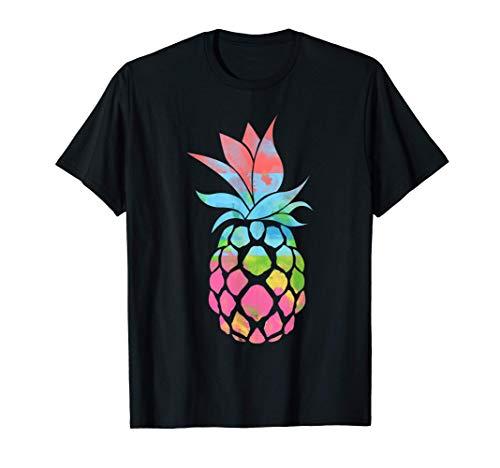 Pinceau coloré Jus de fruit de l'épine hawaïenne Ananas T-Shirt