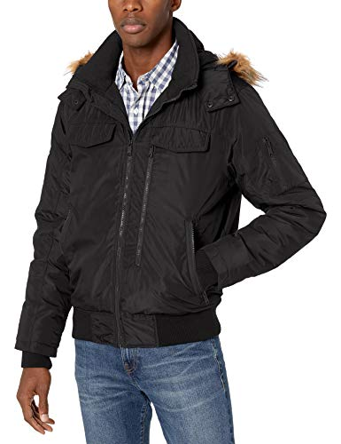Ben Sherman Men's Parka Jacket, Bomber Black, S