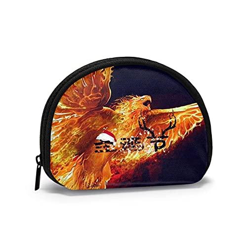 Flaming Eagle Fire Phoenix - Bolsas de almacenamiento de cosméticos portátiles para mujeres y niñas, monedero pequeño, monedero, monedero