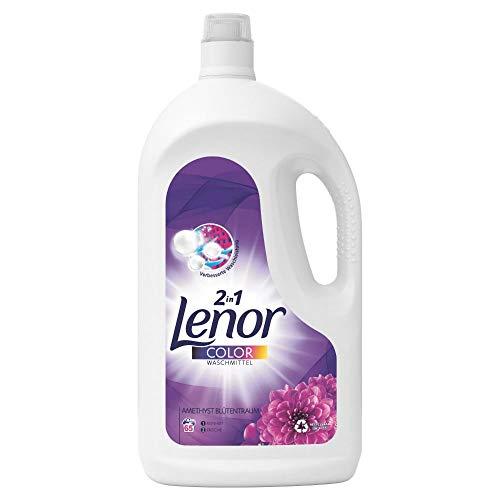 Lenor Waschmittel Flüssig, Flüssigwaschmittel, Color Waschmittel, Farbschutz, Amethyst Blütentraum, 130 Waschladungen (7.15 L)