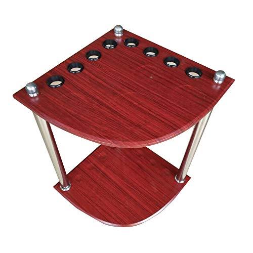 DENGS Porta stecche,Supporto da Tavolo per Biliardo,Deposito Palline da Biliardo Portastecche Accessorio Porta Stecca Biliardo / 8 fori / 33×33×50cm