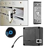 Cerradura de gabinete Cerradura de inducción de seguridad negra Instalación flexible Cerradura de tarjeta sin perforaciones Cerradura de cajón antirrobo conveniente para el hogar para