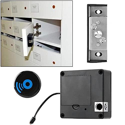 Cerradura de cajón Cerradura de tarjeta Cerradura de armario sin llave Práctica electrónica Antirrobo Instalación flexible Cerradura de inducción Seguridad para el hogar para apartamentos