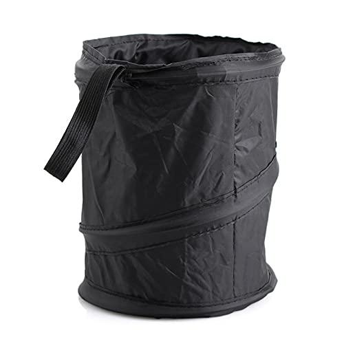 ZINGYUE Cubo de basura para coche Mini papelera de coche Suministros de coche Asiento de coche Almacenamiento plegable multifunción negro
