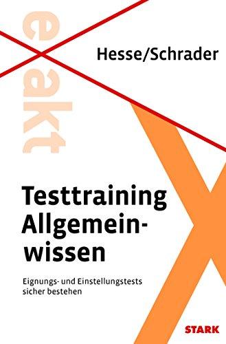 Testtraining Allgemeinwissen (Beruf & Karriere)
