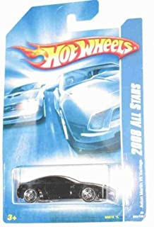 Hot Wheels Black Aston Martin V8 Vantage 2008 All Stars Series 1:64 Scale Die Cast Collectible Car #050